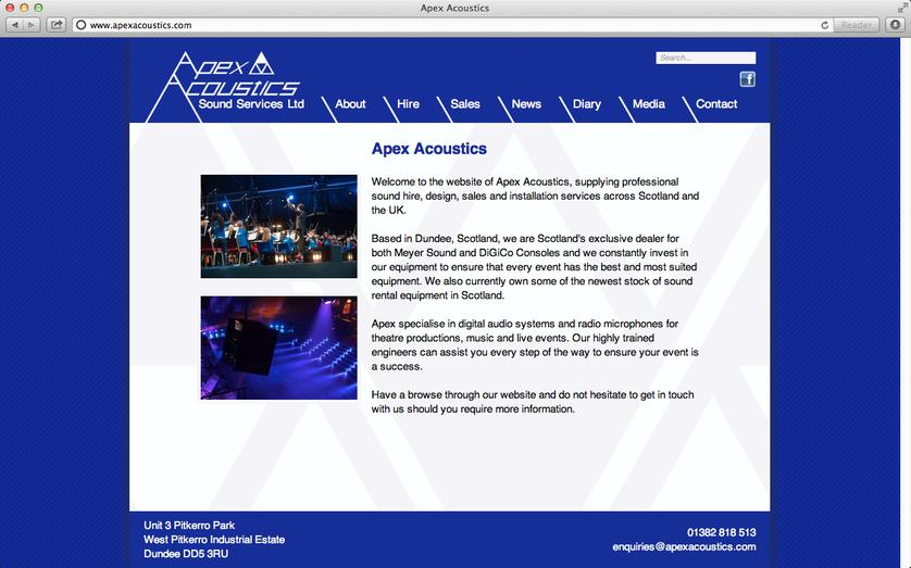 Image Zoom 75 - Apex Acoustics - News - fiennes org